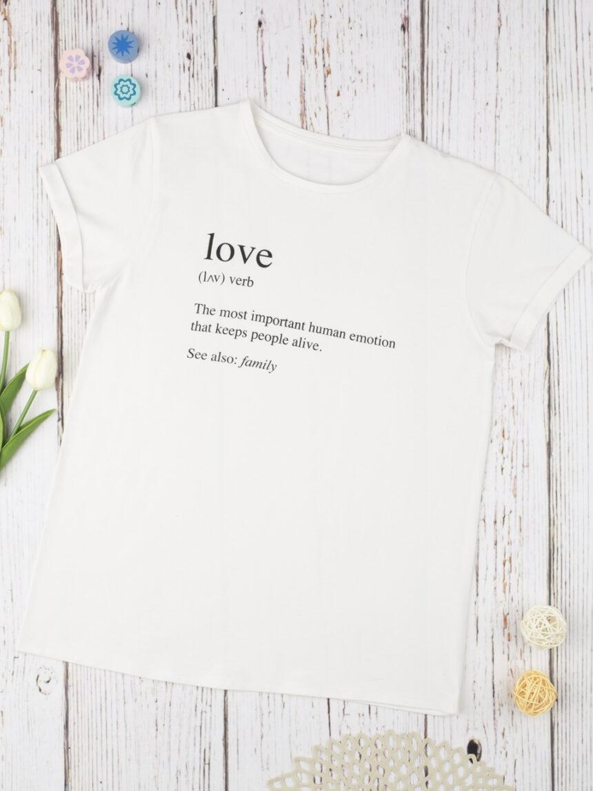 """Camiseta """"dicionário do amor"""" - Prénatal"""