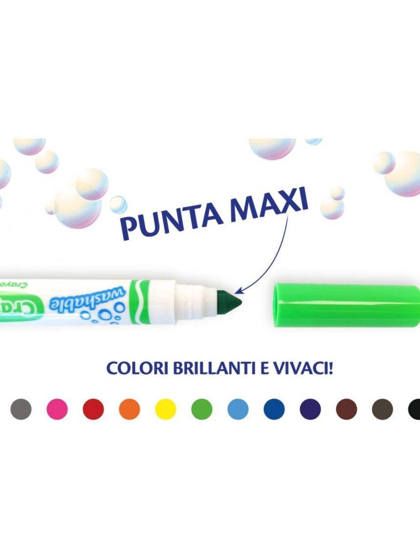 Crayola - 12 marcadores de ponta lavável - Crayola
