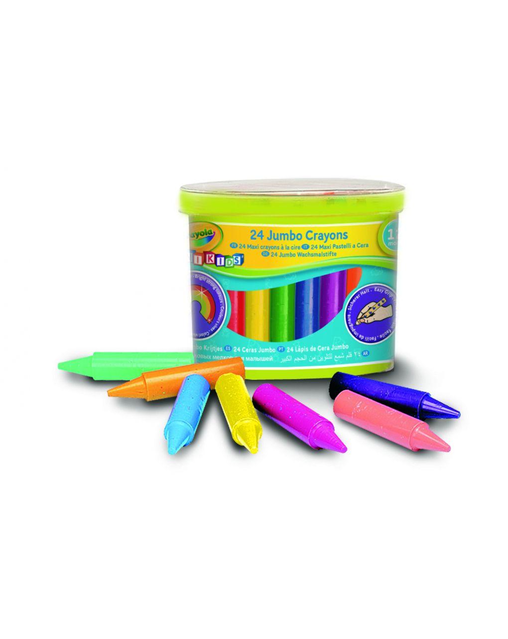 Crayola - 24 lápis de cera mini kids maxi - Crayola