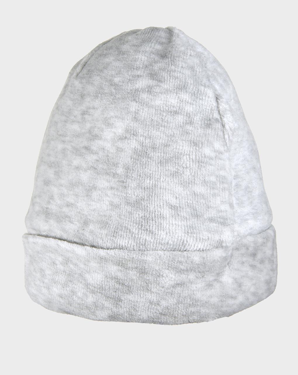 Chapéu cuco em chenile cinza claro - Prénatal