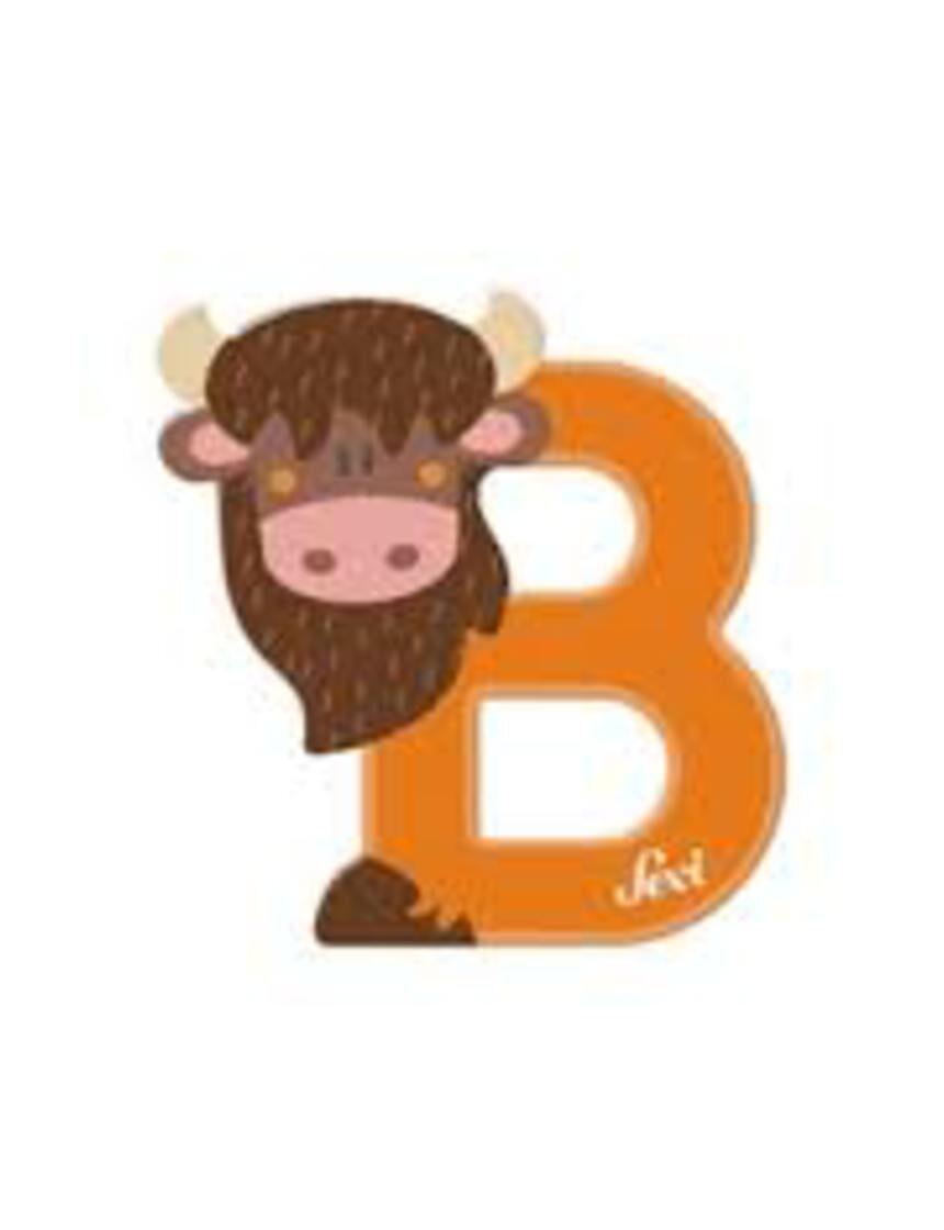 Letra b bisão - Sevi