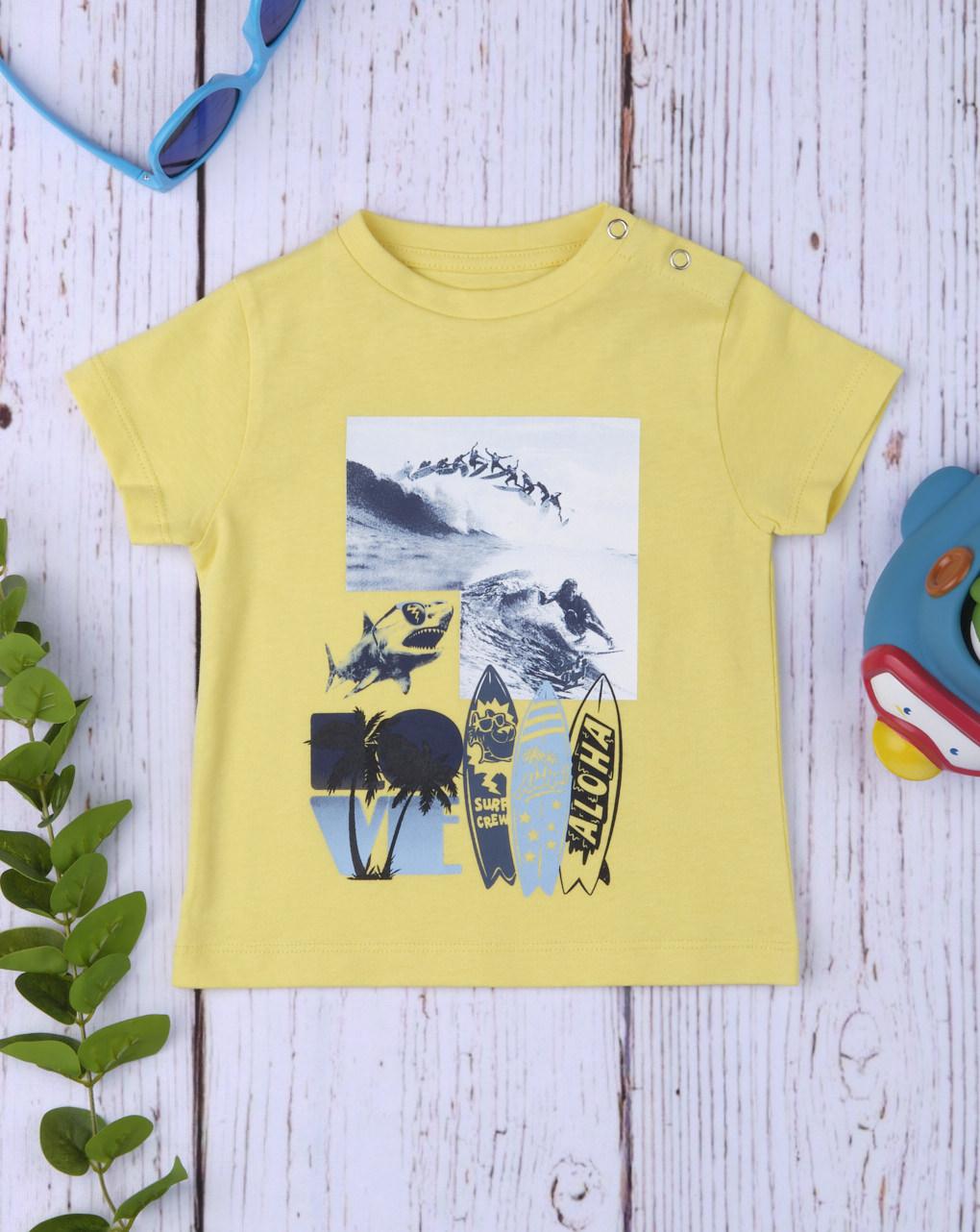 "Camiseta menino ""girassol"" - Prénatal"