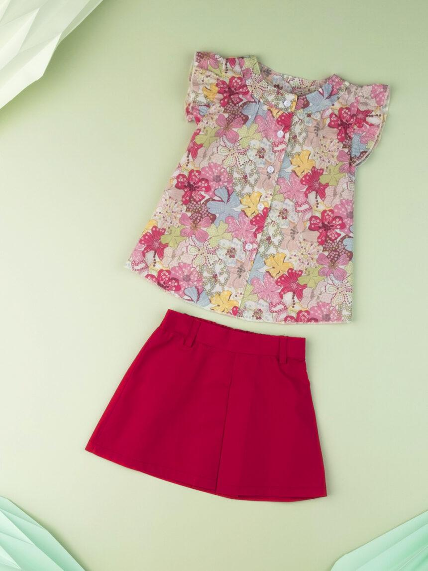 """Camisa de bebê """"sweet flower"""" em tecido liberty - Prénatal"""