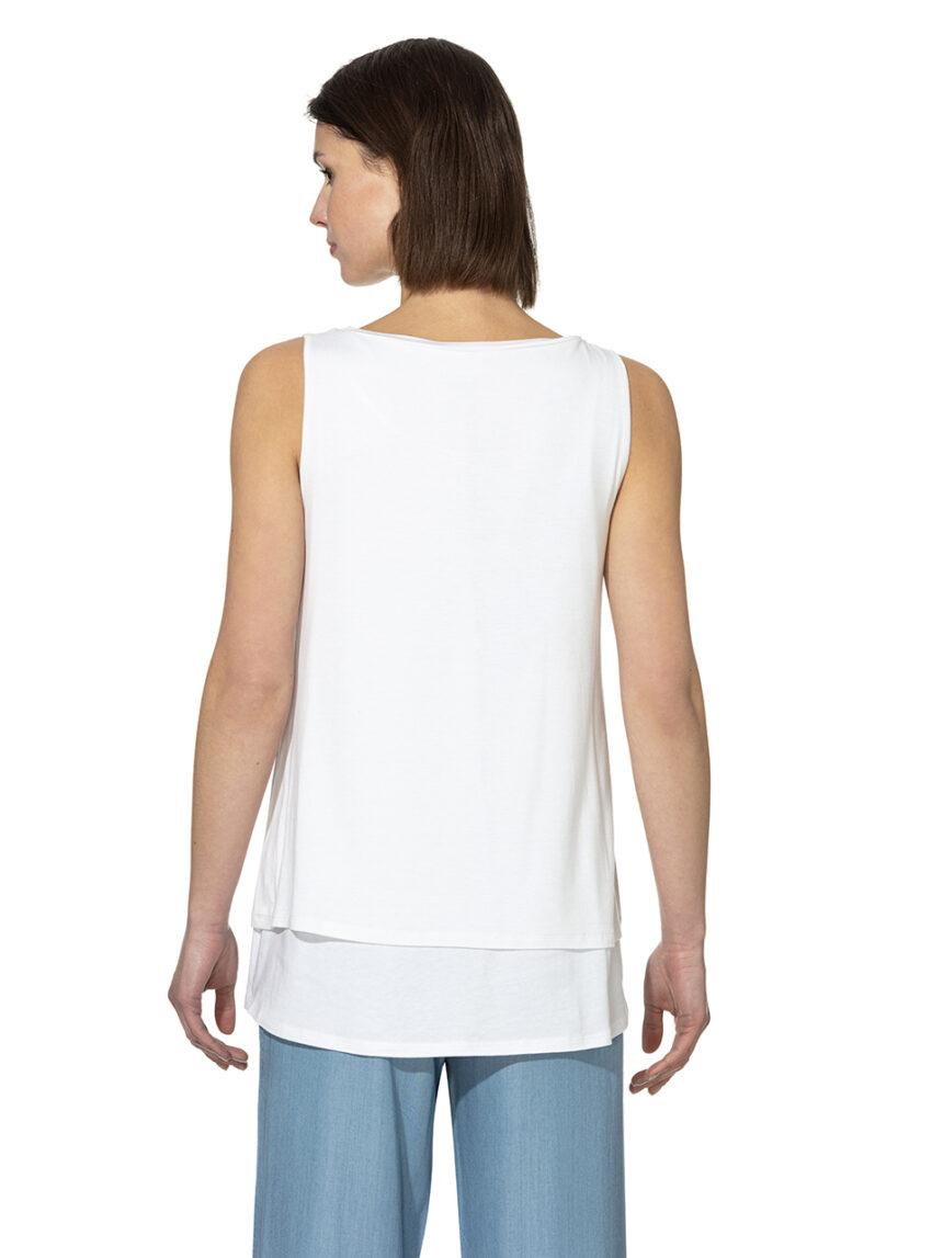 Camiseta de alças de enfermagem com estampa e grãos aplicados - Prénatal