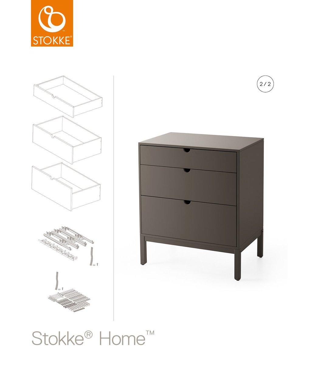 Gavetas para cômoda stokke® home ™ - cinza nebuloso - Stokke