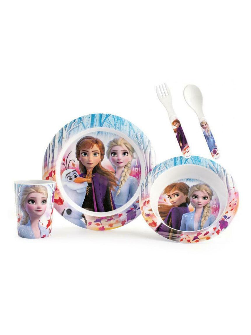 Conjunto de refeição de 5 peças frozen 2 disney - Disney, Lulabi Disney