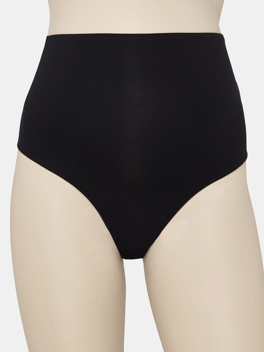 Pacote de 2 cuecas de microfibra preta de cintura alta - Prénatal