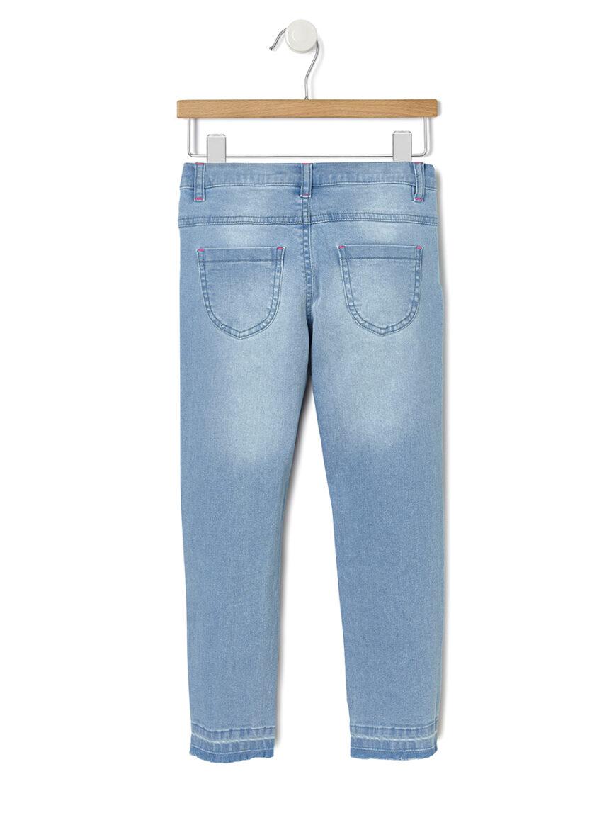 Calça jeans com bordado - Prénatal