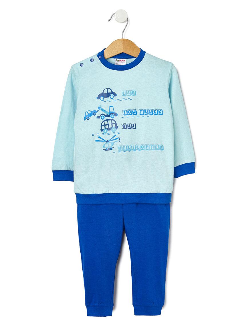 Pijama de 2 peças com estampa de carro - Prénatal