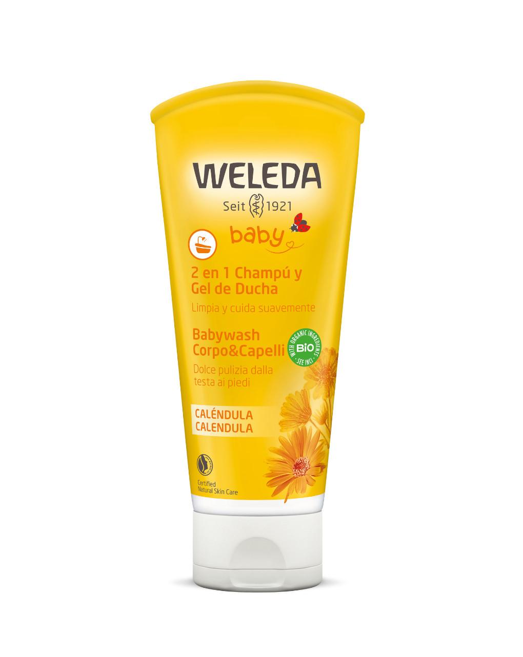 Calêndula para lavagem do corpo e cabelo de bebê 200 ml - Weleda