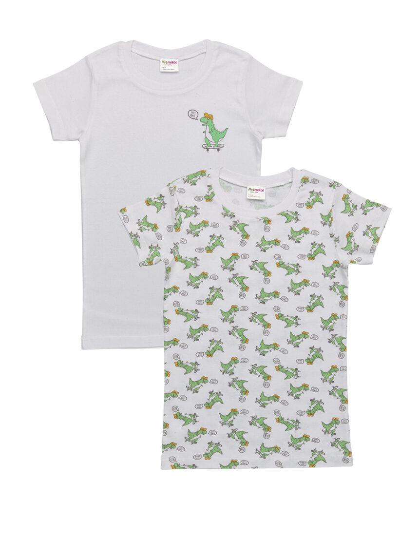 Pacote de 2 camisetas com estampa de dinossauro - Prénatal