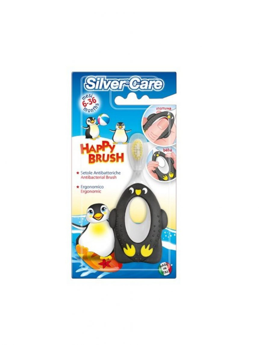 Pinguim escova feliz 6-36 m - Silver Care