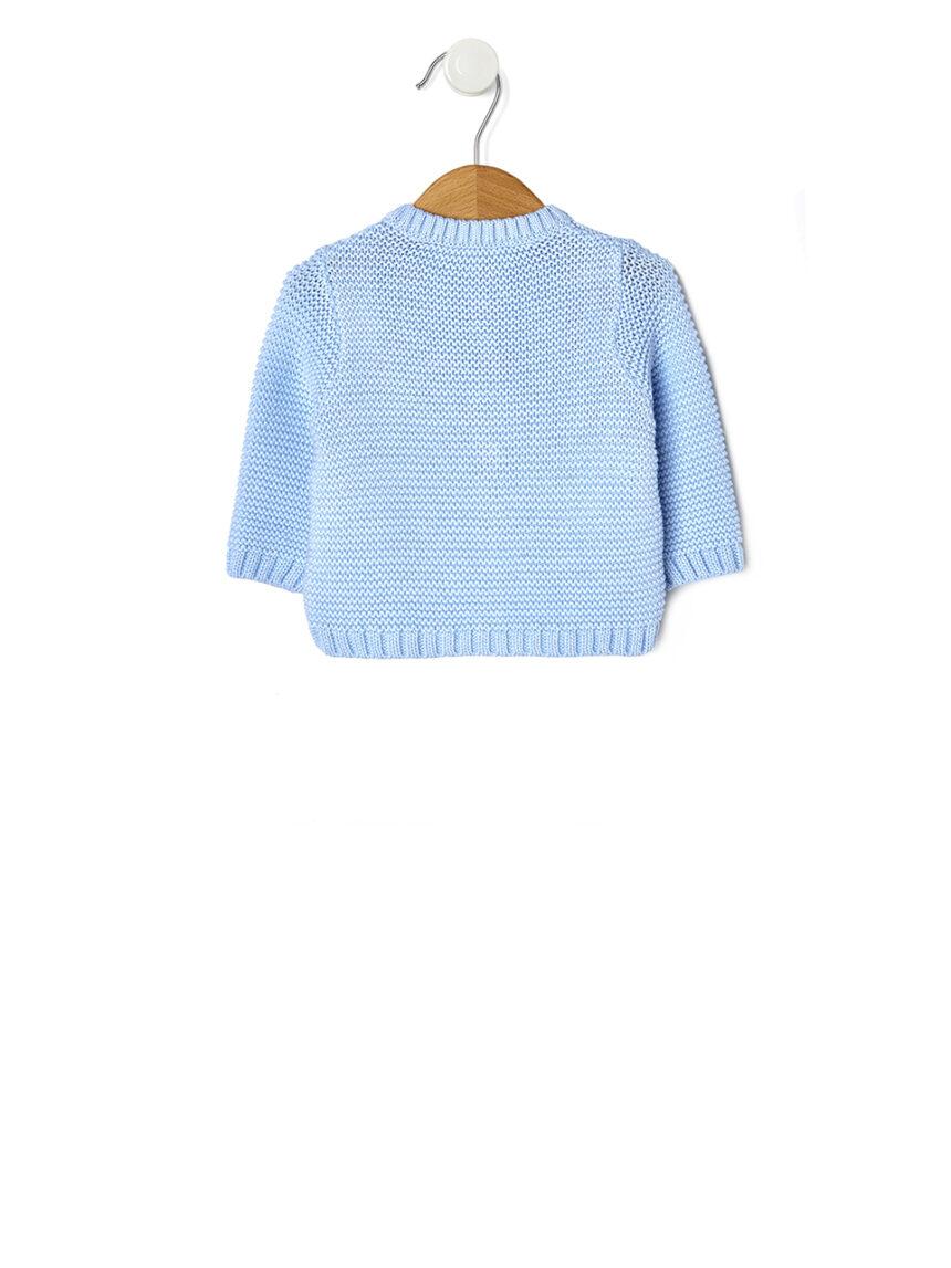 Cardigan de tricô azul claro - Prénatal