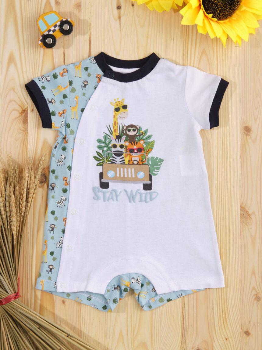 """Macacão de bebê """"pequena selva"""" - Prénatal"""