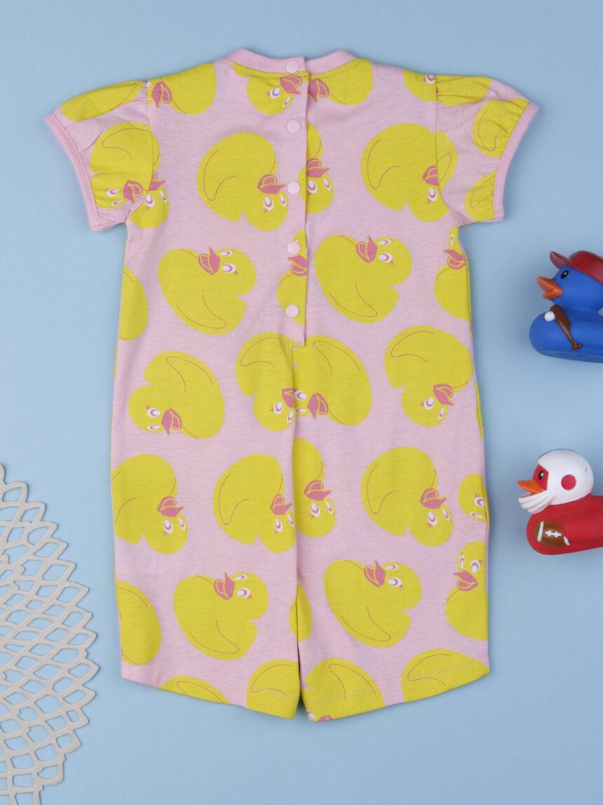 """Pijama de menina """"pato"""" - Prénatal"""