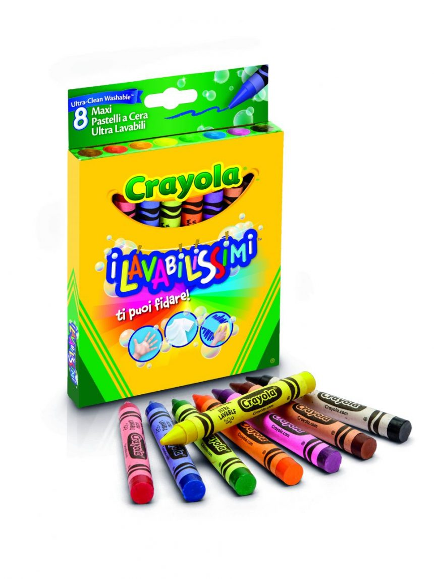 Crayola - 8 lápis de cera laváveis maxi - Crayola