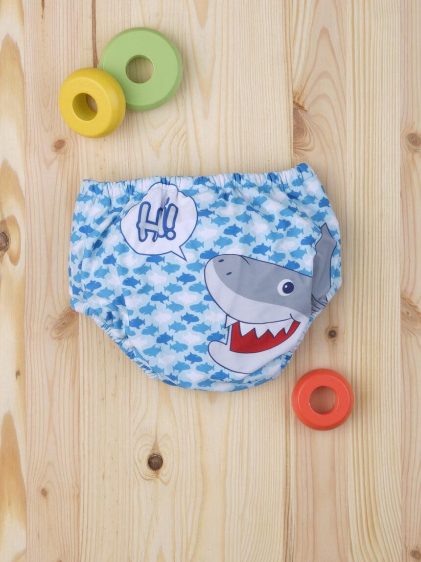"""Maiô """"tubarão"""" menino - Prénatal"""