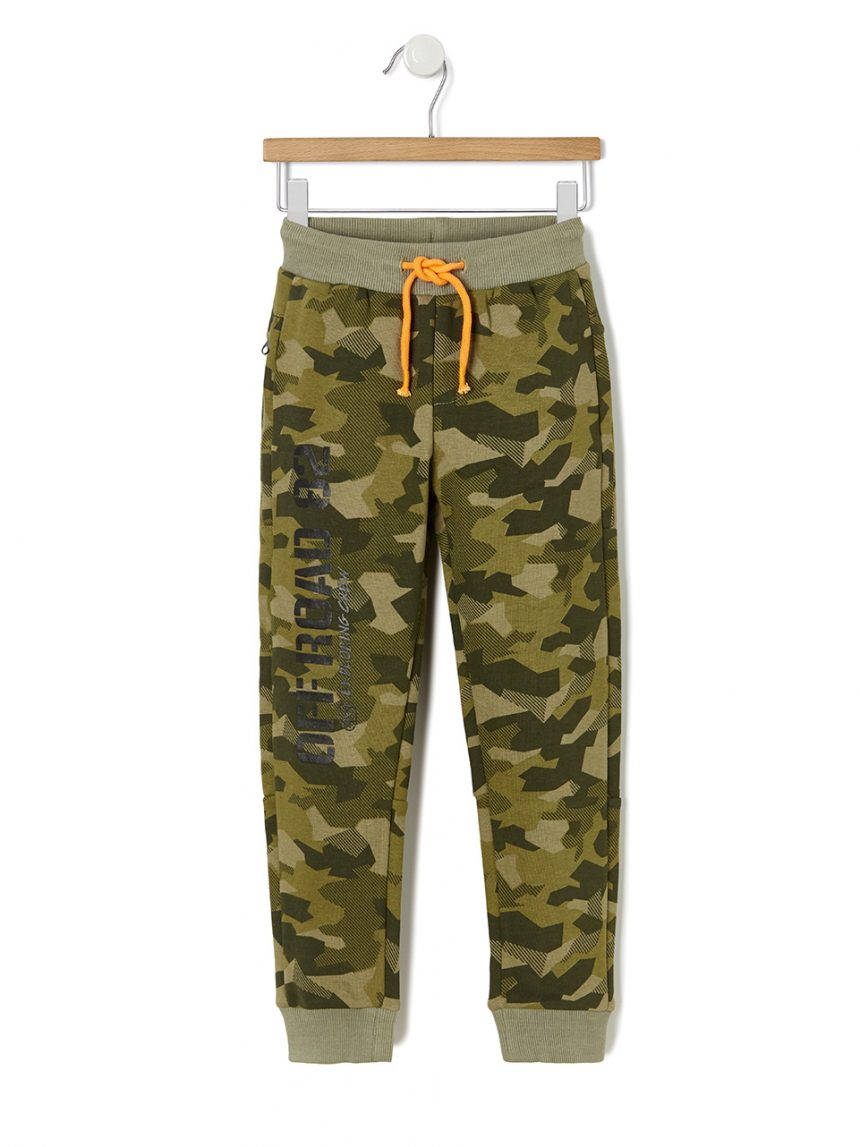 Calças de lã com padrão de camuflagem - Prénatal