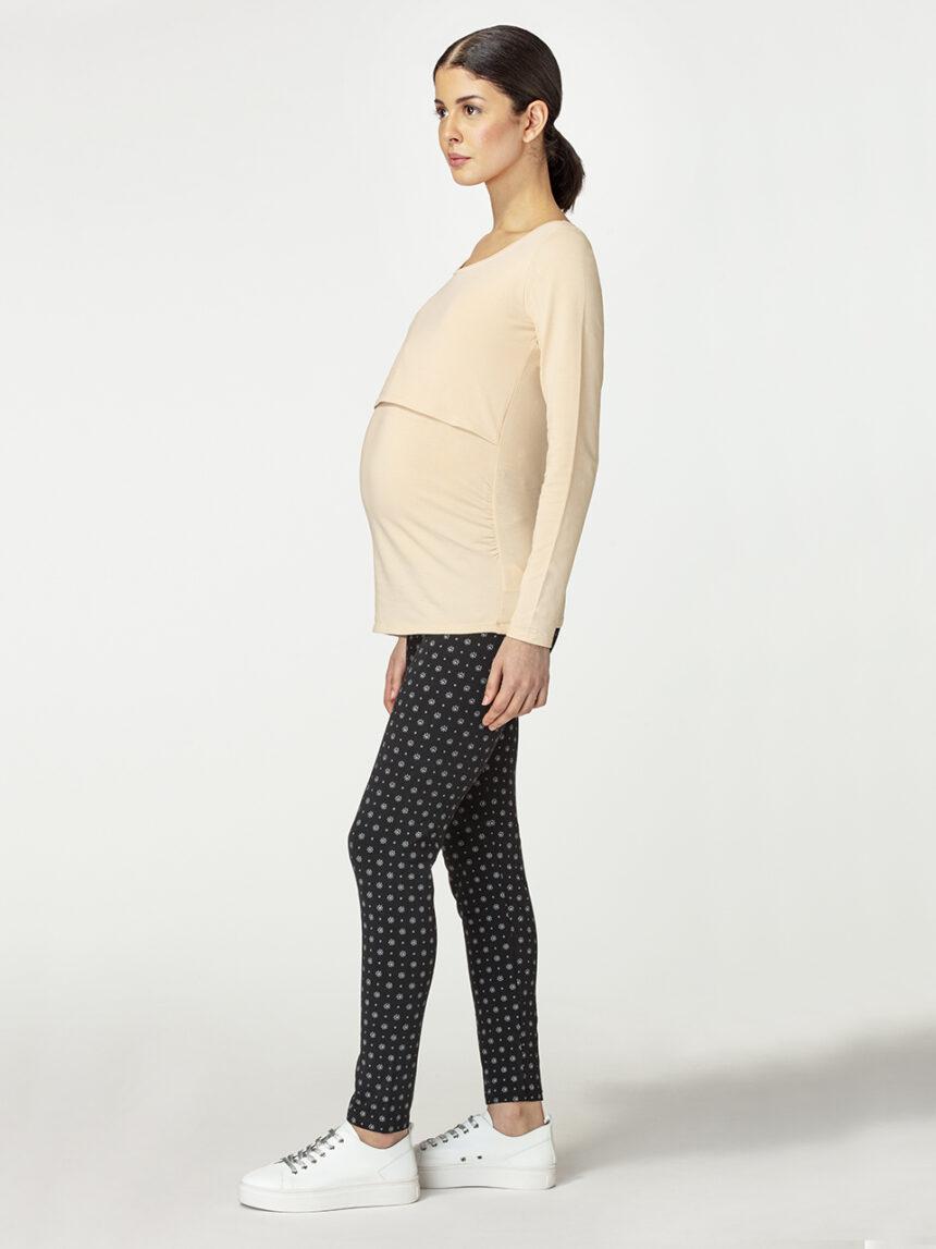 Leggings de maternidade com estampa floral - Prénatal