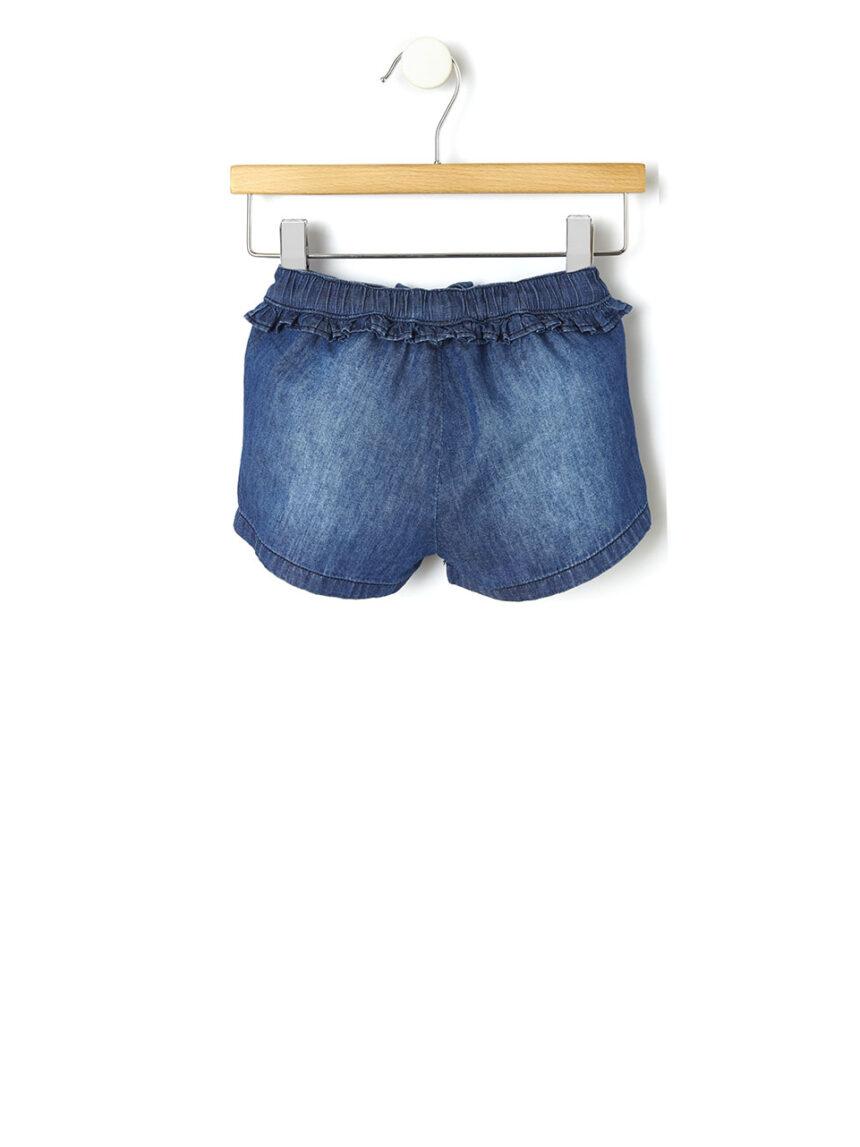 Shorts chambray com rouches - Prénatal