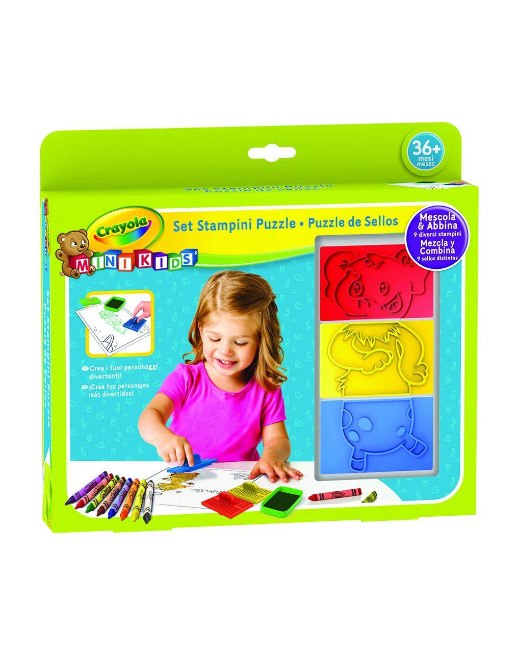 Crayola - conjunto de moldes de mini quebra-cabeças infantis - Crayola