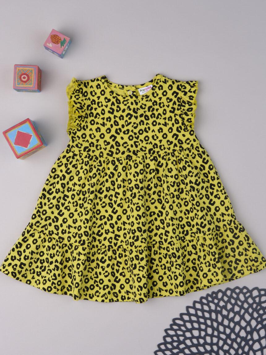 Vestido amarelo de menina manchada - Prénatal