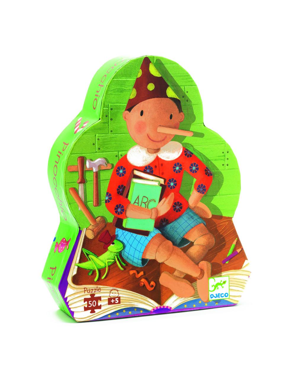 Djeco - pinocchio 50 peças - quebra-cabeça - Djeco