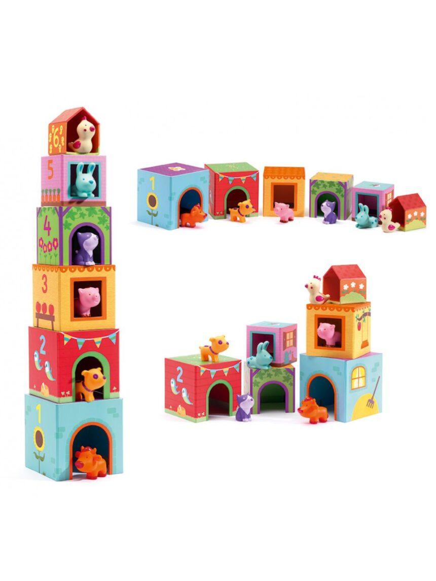 Crianças - topanifarm - blocos - Djeco