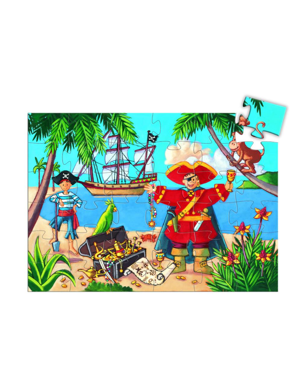 Djeco - o pirata e seu tesouro 36 pcs - quebra-cabeça sagomato - Djeco