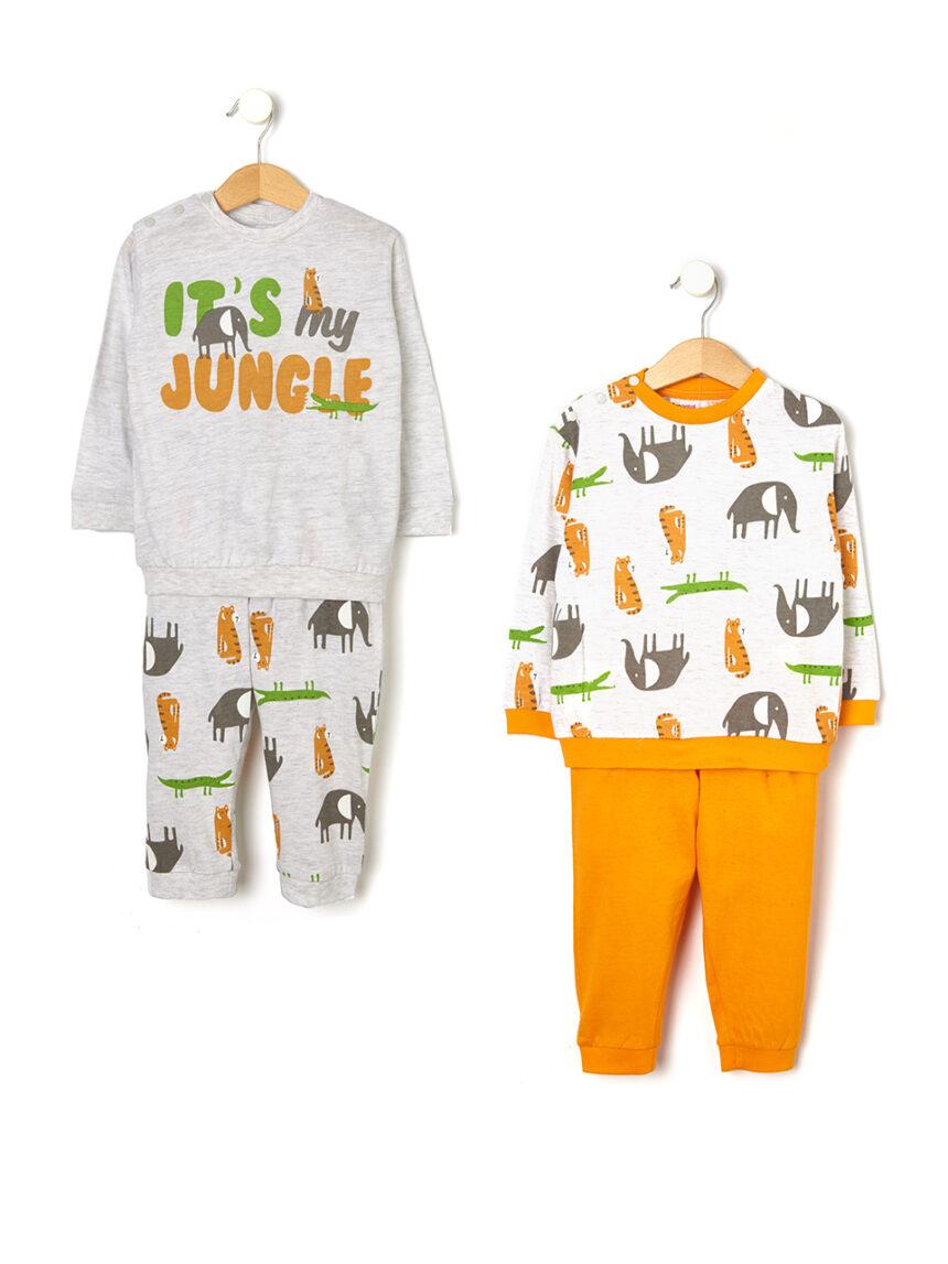Pacote de 2 pijamas com estampa de selva - Prénatal
