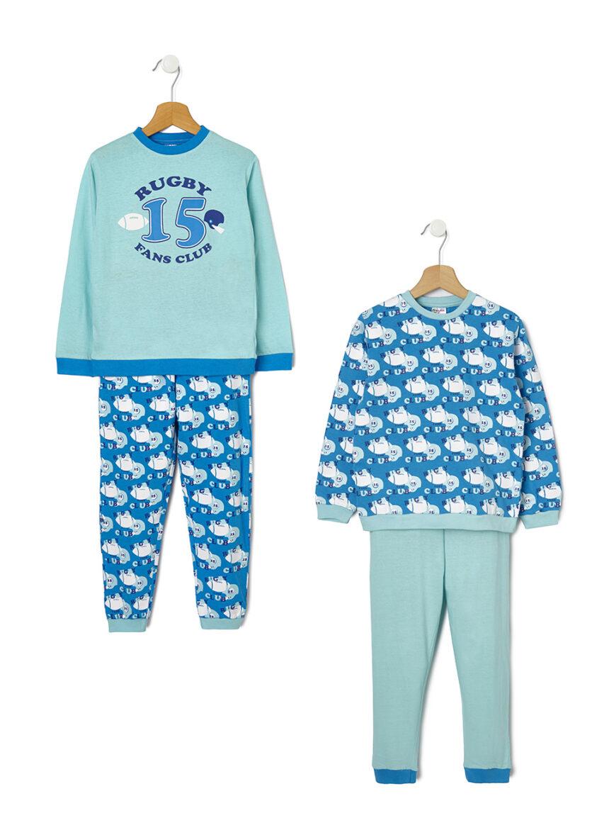 Pacote de 2 pijamas com estampa de rugby - Prénatal