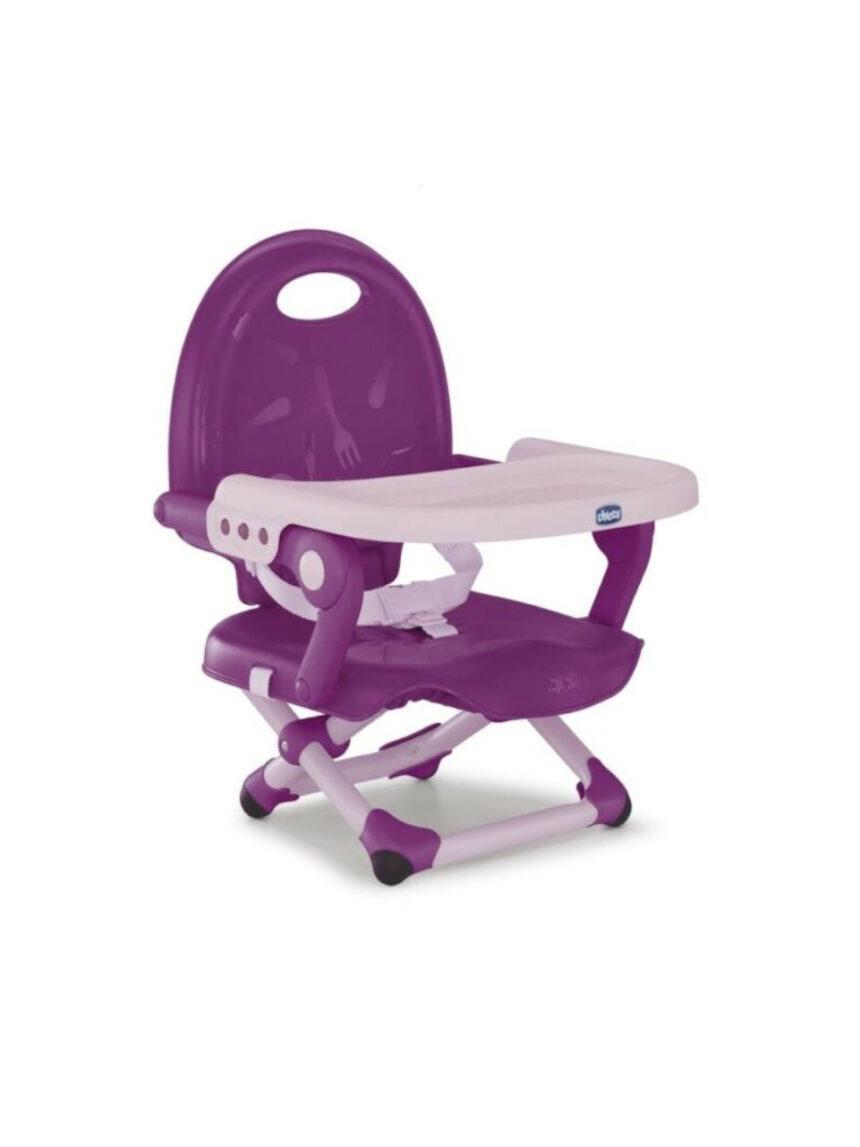 Cadeira de reforço com bolso de lanche violeta - Chicco