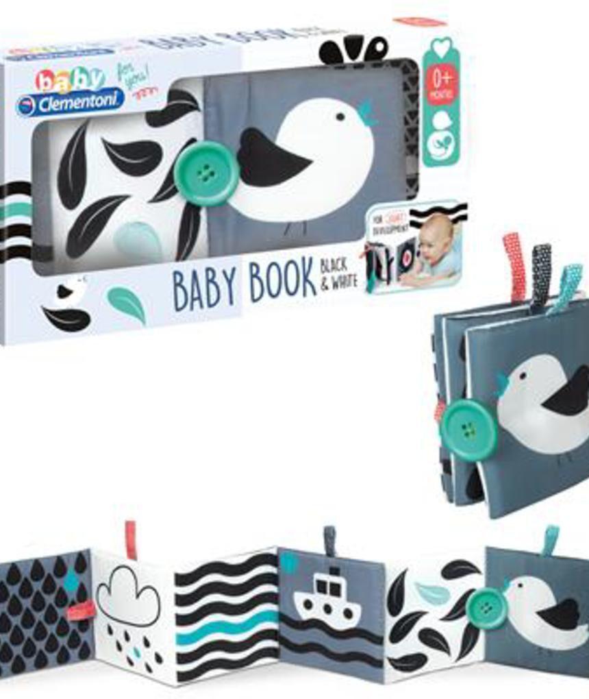 Clementoni bebê - livro preto e branco do bebê - Clementoni