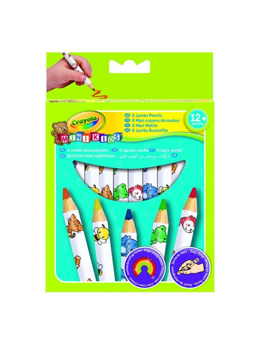 Crayola - 8 lápis de cor maxi - Crayola