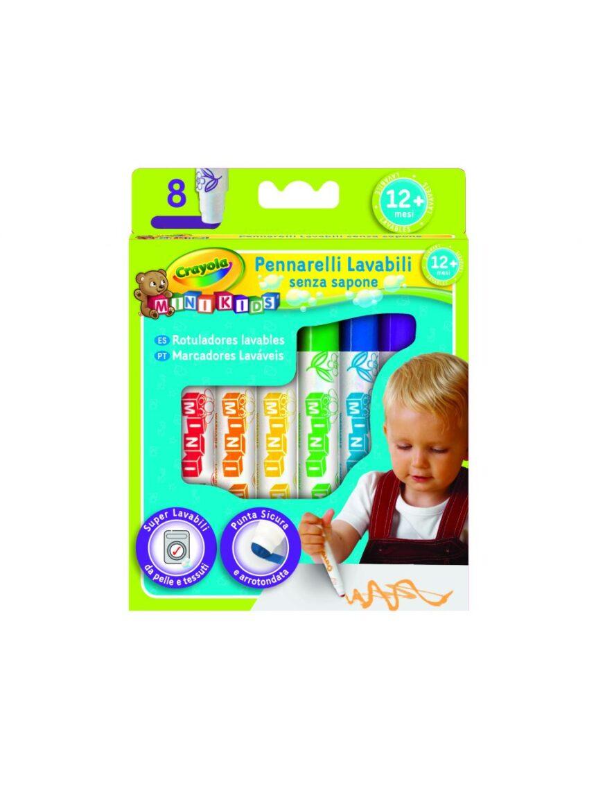 Crayola - 8 mini cores de fibra infantil - Crayola