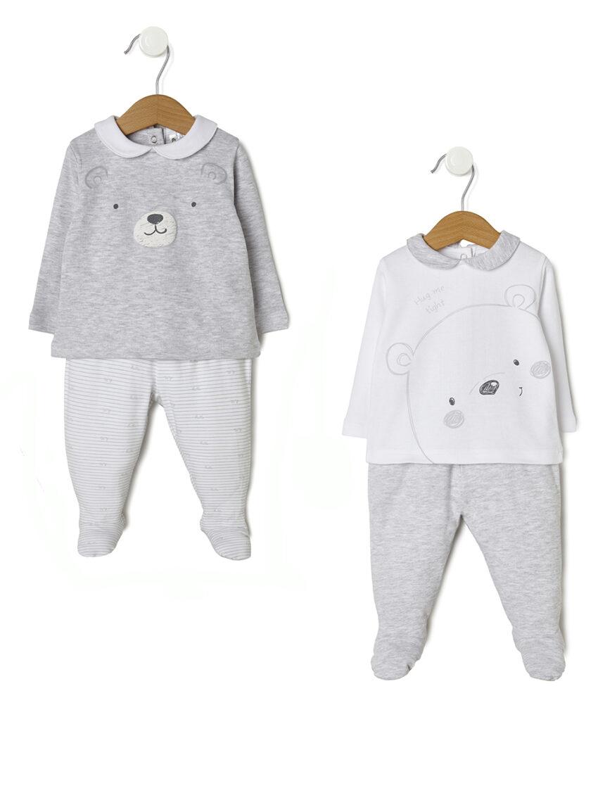 Pacote 2 completo com camisa e polainas com ursos - Prénatal