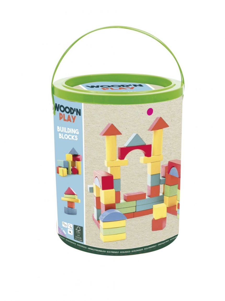 Wood'n play - 100 blocos de construção - Wood'N'Play