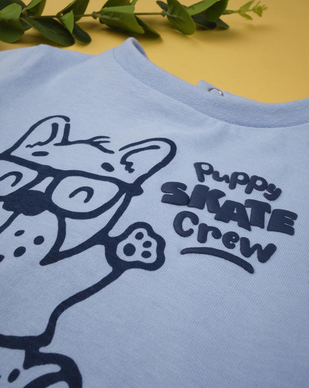"""T-shirt de menino """"filhote de skate tripulação"""" - Prénatal"""