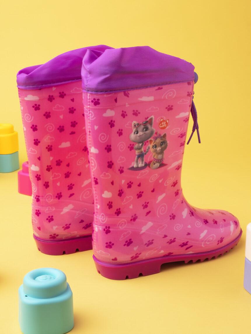 """Botas de chuva de menina """"44 gatos"""" - Prénatal"""