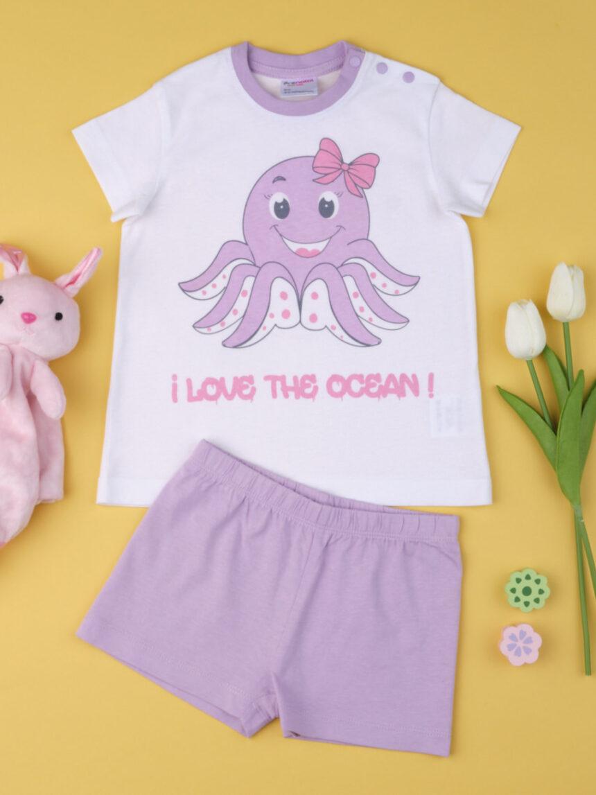 """Garota pigiama """"eu amo o oceano"""" - Prénatal"""