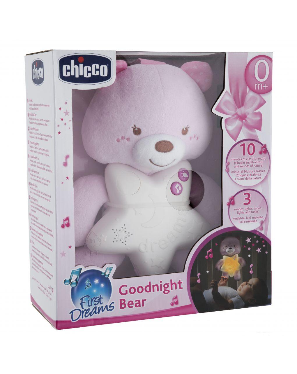 Chicco - painel de urso rosa boa noite - Chicco