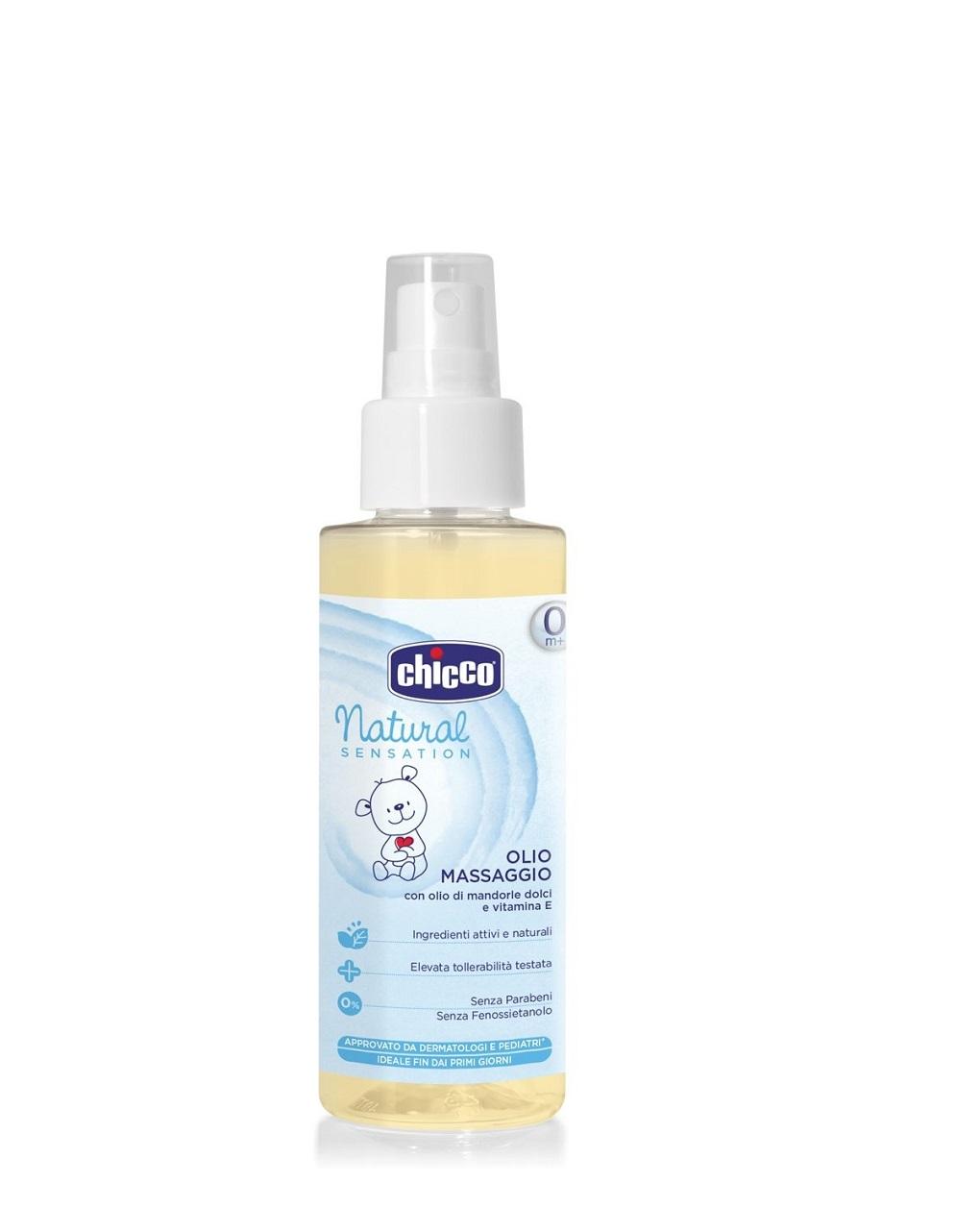 óleo de massagem 100ml spray de sensação natural - Chicco