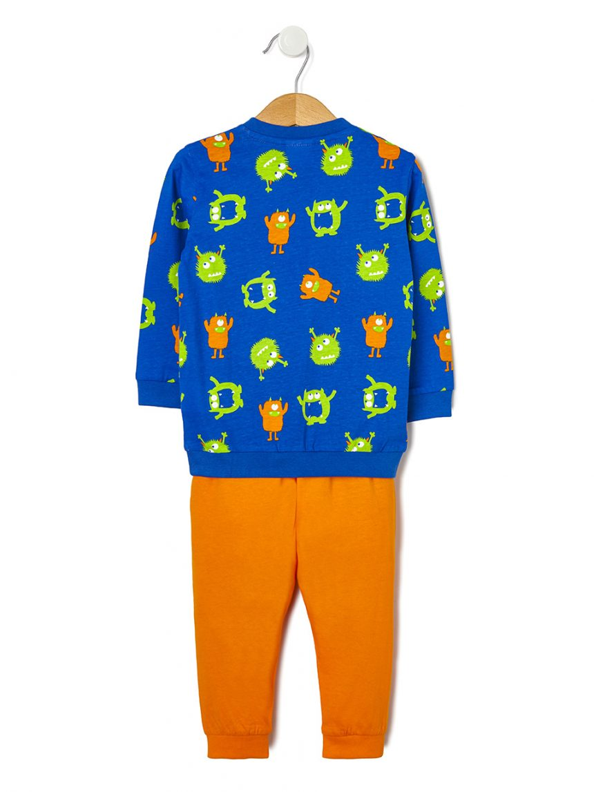 Pijama de duas peças com estampa de monstros allover - Prénatal