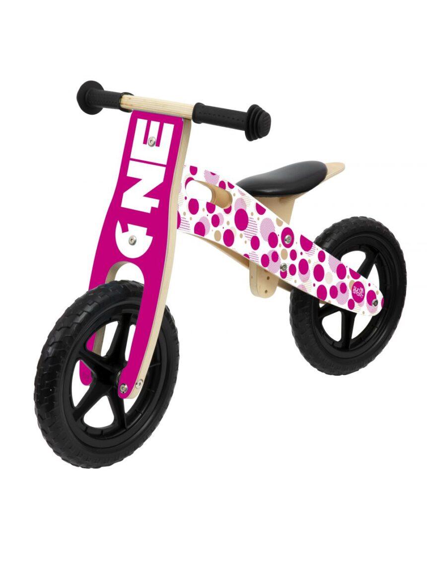 Sol e esporte - garota de bicicleta de madeira - Sun&Sport