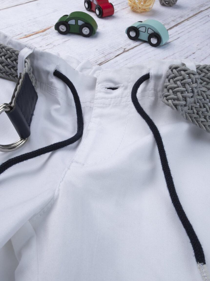 Calção de menino branco com cintura - Prénatal