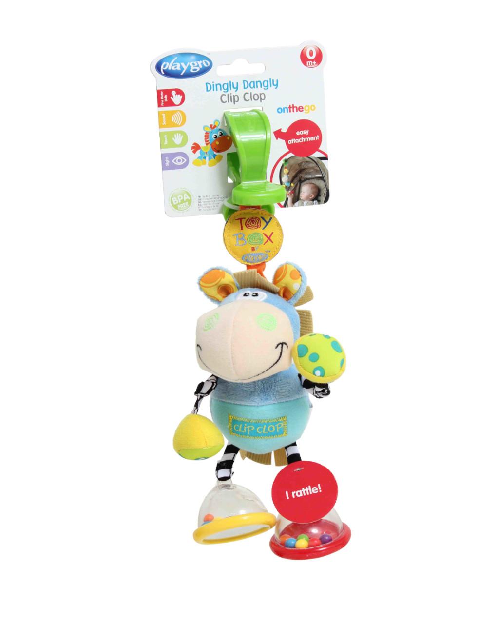 Playgro - caixa de brinquedos clop clop dingly dingly dangly (pequeno cartão de cabeçalho) - Playgro