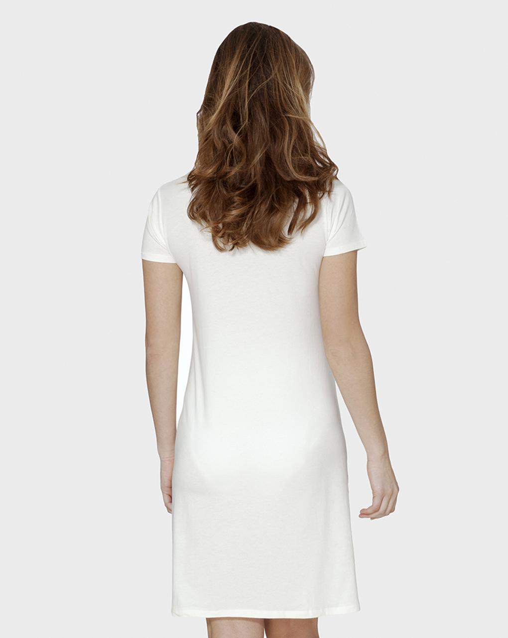 Camisa branca de mangas curtas para parto - Prénatal