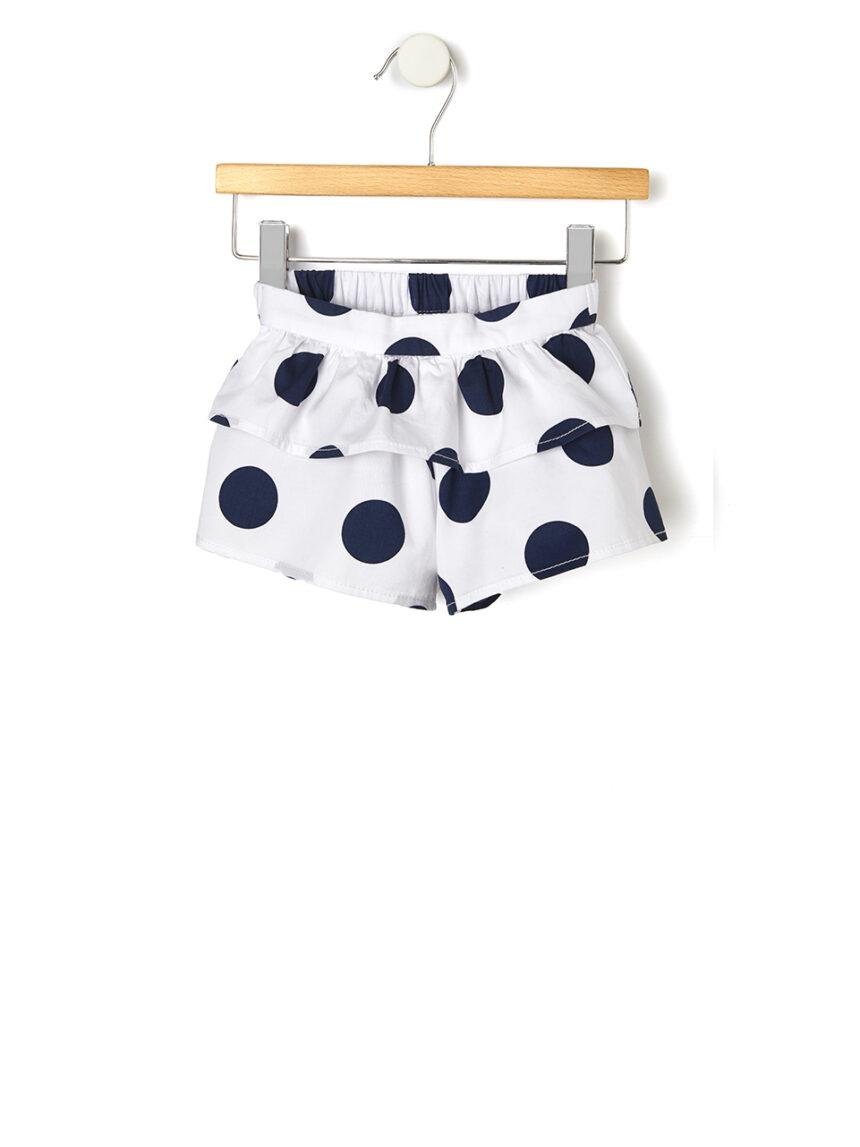 Shorts com babados e bolinhas - Prénatal