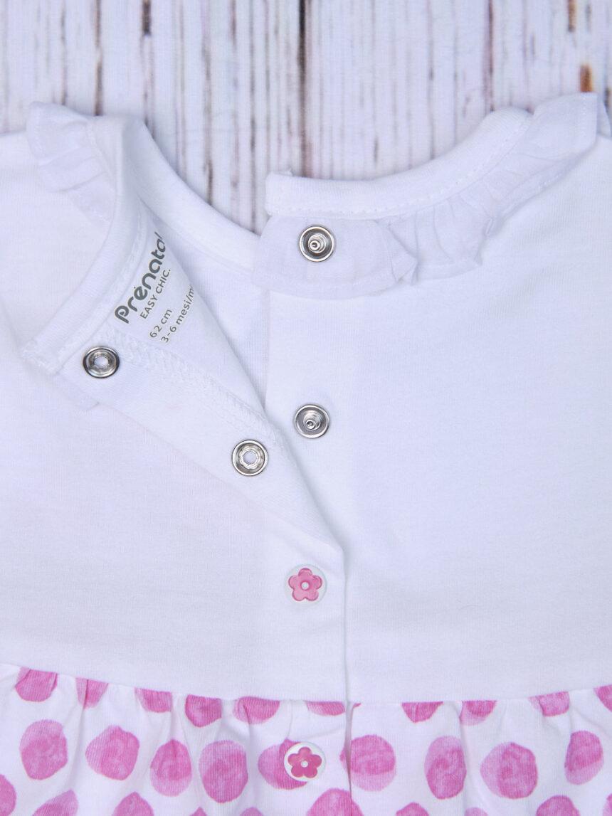 Vestido listrado de jersey de bolinhas - Prénatal