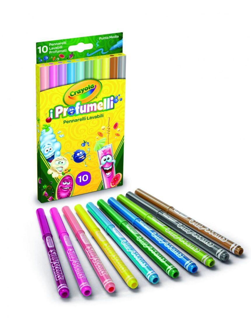 Crayola - 10 marcadores laváveis de ponto médio i profumelli - Crayola